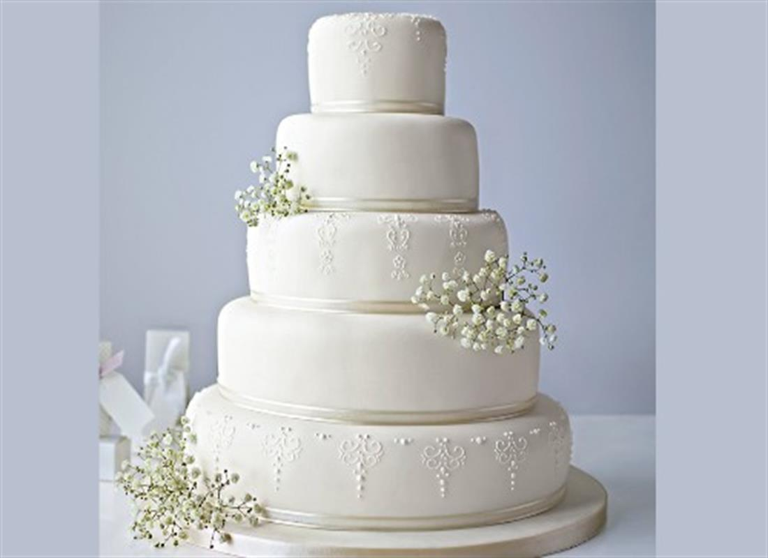 5-Tier Wedding Fruit Cake Online Deal | VConnect™